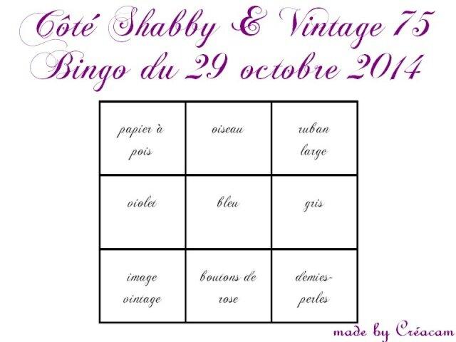 Bingo octobre 2014