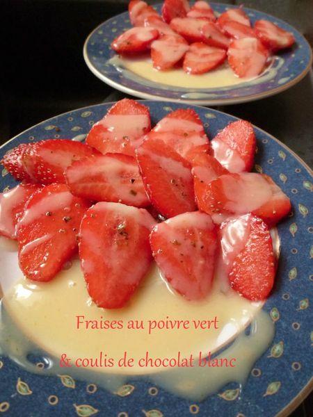 fraises au poivre vert