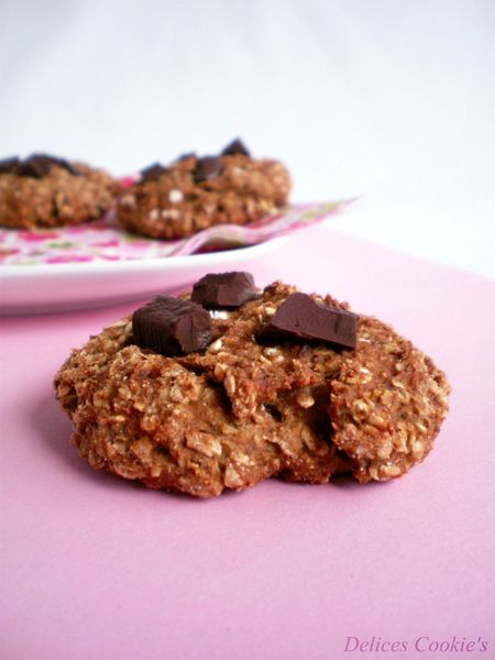 cookies banane marrons flocons 2