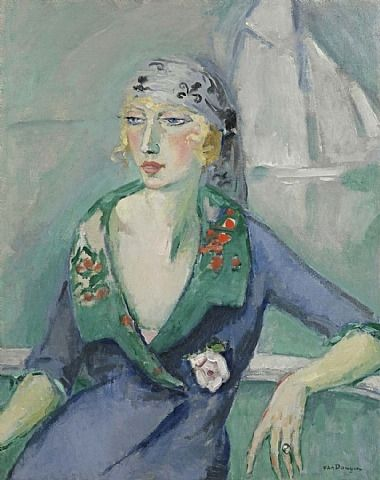 La_femme_au_foulard_1921_Kees_Van_Dongen