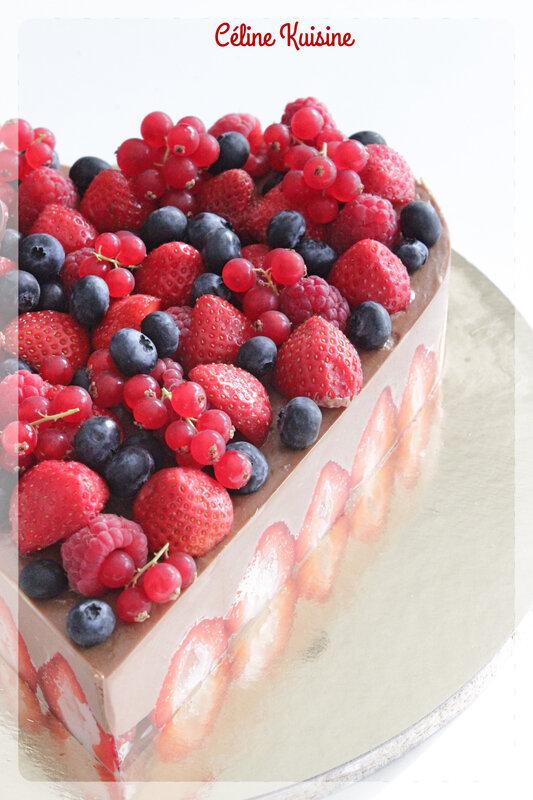 fraisier chocolat 3