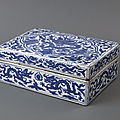Boîte rectangulaire, Porcelaine, Dynastie Ming, période Longqing (1567 - 1572)