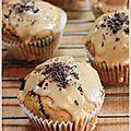 Muffins au café & pépites de chocolat, glaçage expresso