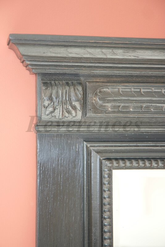 grand miroir ancien patin gris ardoise r v rences. Black Bedroom Furniture Sets. Home Design Ideas