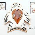 Br101 - broche pendentif tortue aborigène en bronze et jade