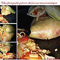 Chou farci poulet-poivrons-chorizo aux saveurs asiatiques