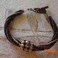 spirale bronzo con swarovski