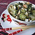 Chou chinois et fenouil en curry vert