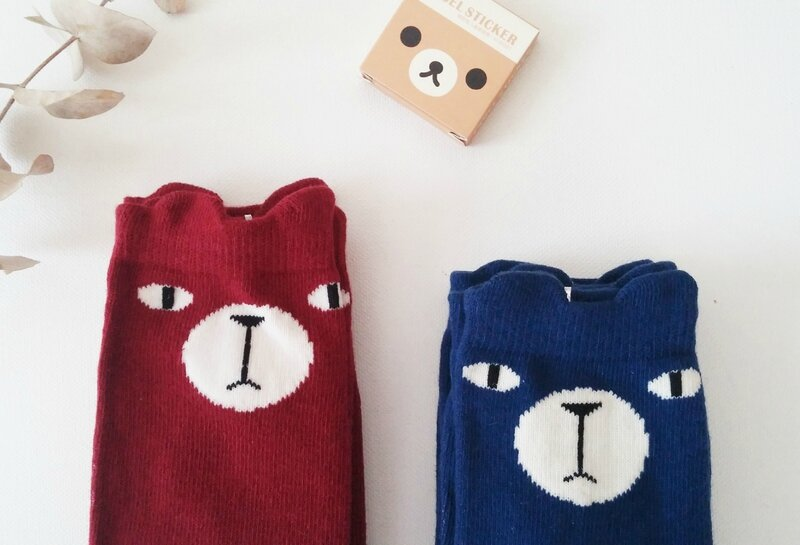 chaussettes-ours-kawaii