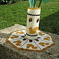 Napperon Vase Ecureuil
