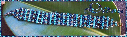 bracelet demeter turquoise AB et métallic blue