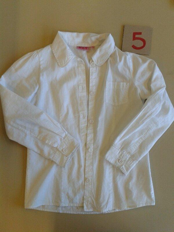 blanc chemise nky 8 ans