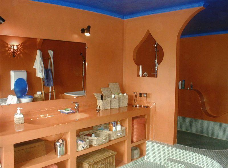 Salle de bain marocaine photo de e patines i deko - Salle de bain hammam ...