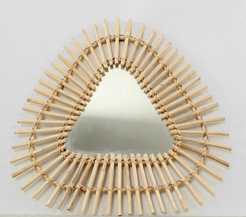 12 miroir rotin triangle