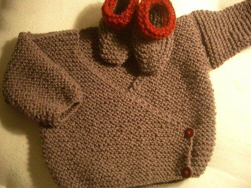 photo tricoter un cache coeur bebe