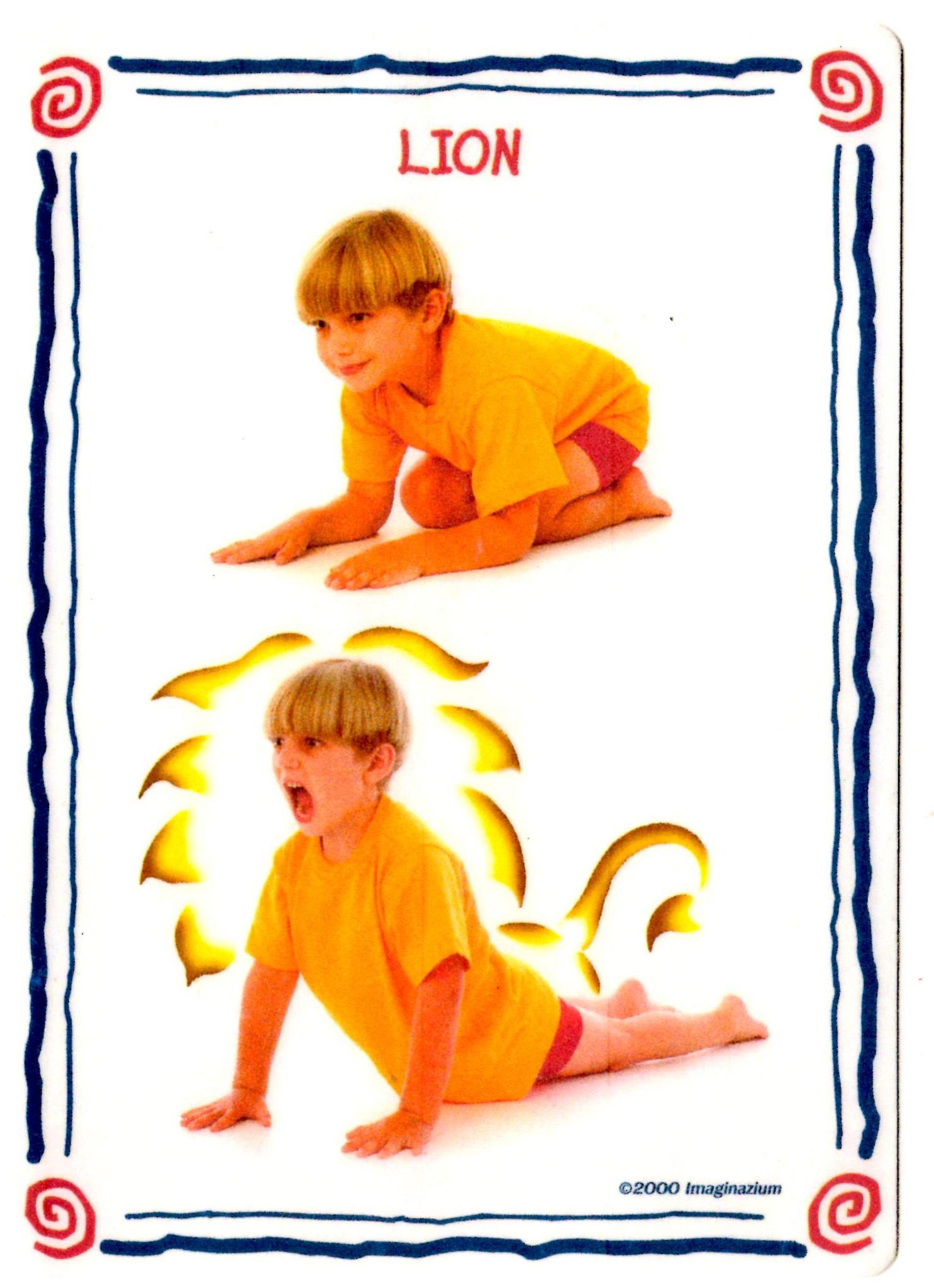 posture yoga lion