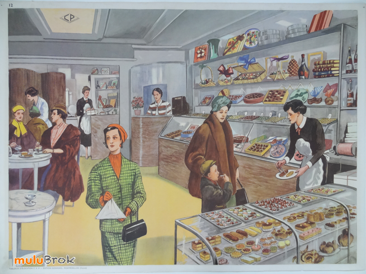 Collection affiche scolaire patisserie visite medicale mulubrok broca - Carte murale scolaire ancienne ...