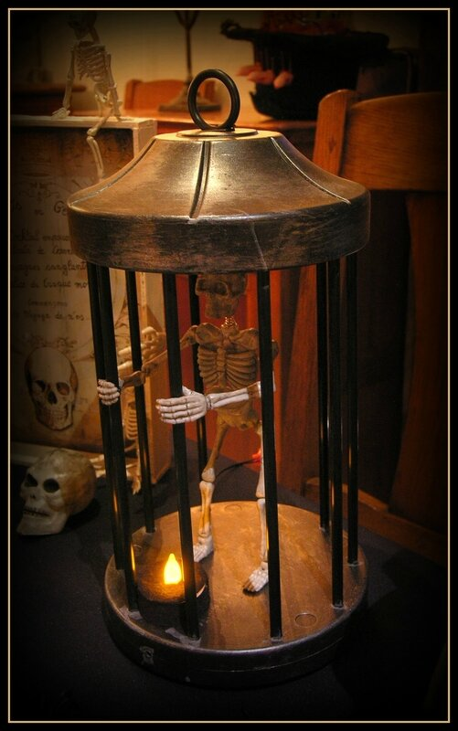 squelette en cage
