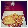 Le vegan burger + frites actifry