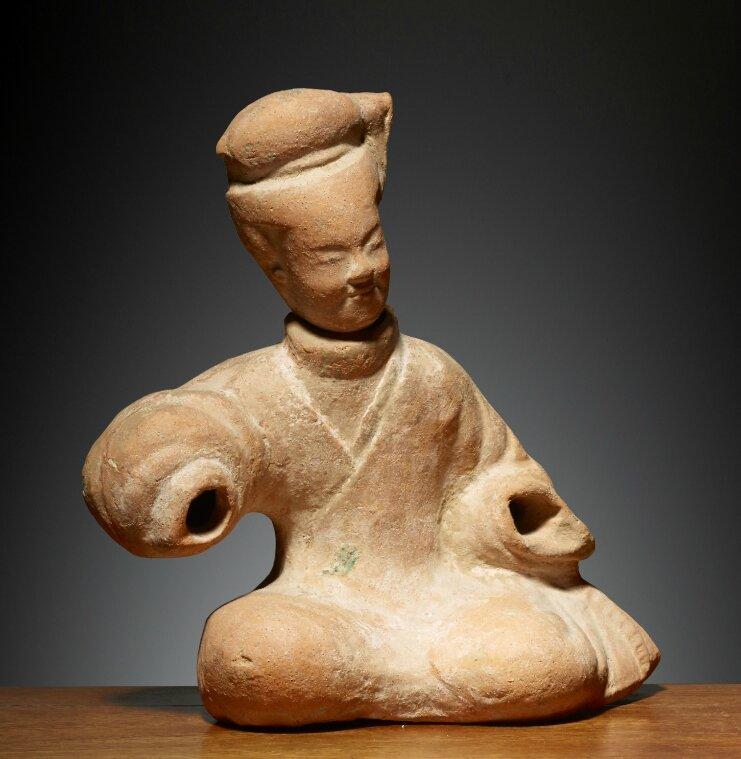 Musicienne, Chine, Dynastie des Han postérieurs, 1°-3° siècles