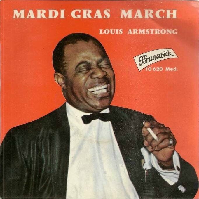 Disque Louis Amstrong Mardi Gras March