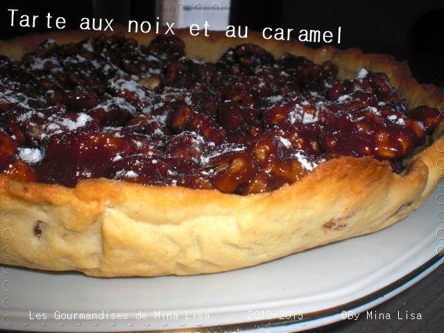 tarte aux noix et caramel0