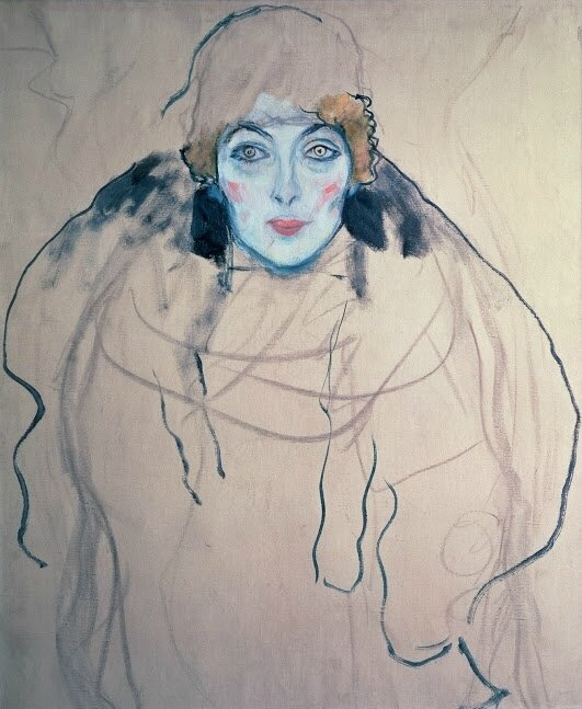 Klimt_Portrait of Lady en face