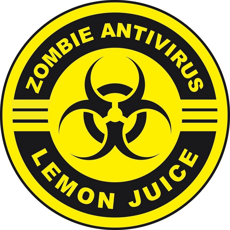 zombie lemon juice label halloween