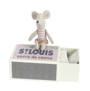 mouse littlesister in box maileg