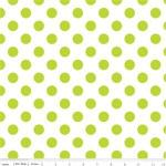 riley blake medium-dots-lime