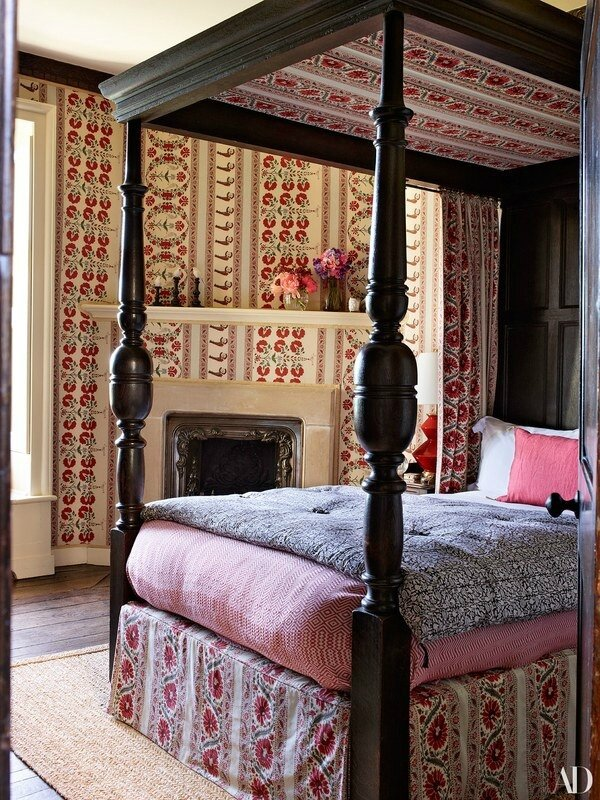 Claudia-Schiffers-English-Mansion-Bedroom