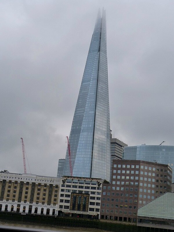 the shard in the fog