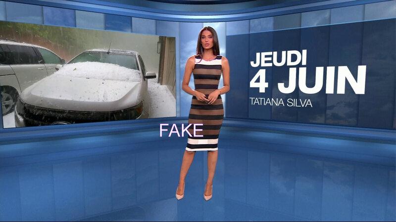 Tatiana Silva, robe transparente