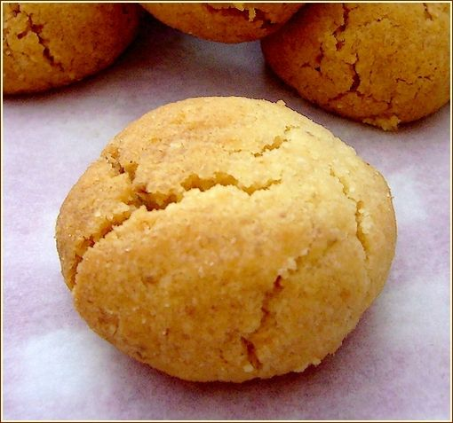 biscuit noisette orange gros plan