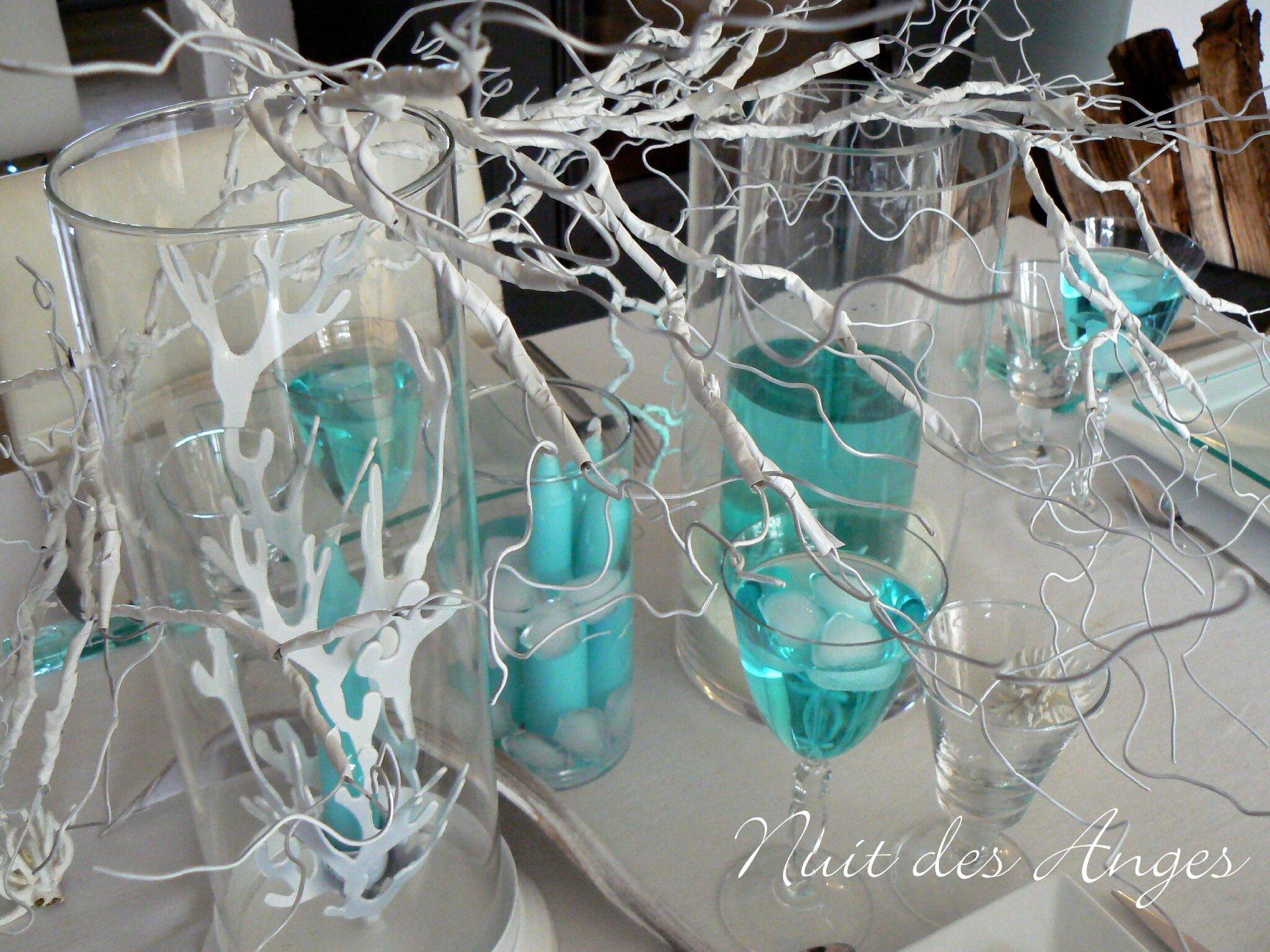D coration de table exotique turquoise nuit des anges for Deco salon turquoise gris
