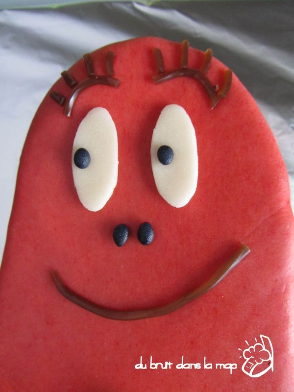 Gateau barbapapa rouge