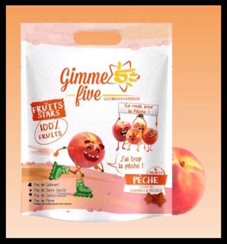 gimme five fruits stars peche
