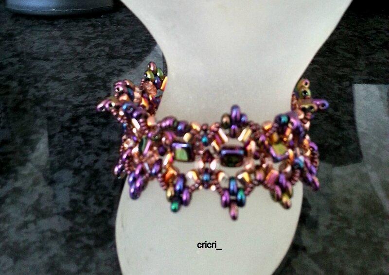 bracelet heal cuivré et violet