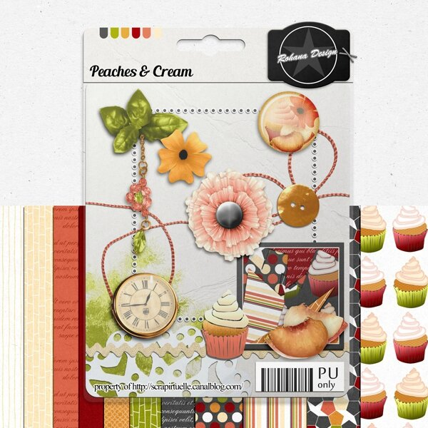 "Free ""Peaches and Cream"" from Rohana Designs - {PU}"