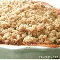 CRUMBLE DE TOMATE SECHEES, CHEVRE, ET PARMESAN 