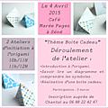 Atelier origami sur le thème boite cadeau