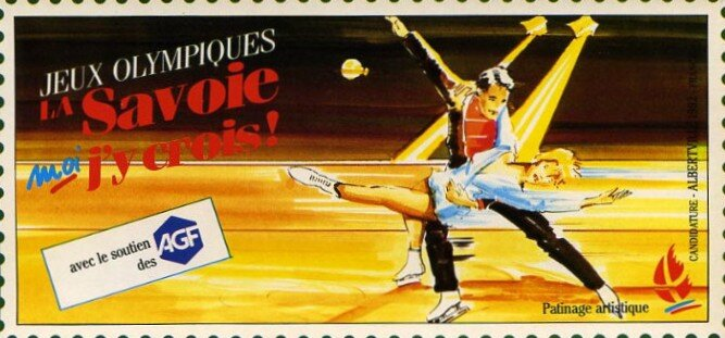 JO 1992 Albertville Cartes de soutient 02R
