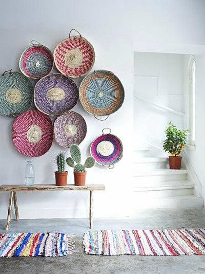 panier on the wall