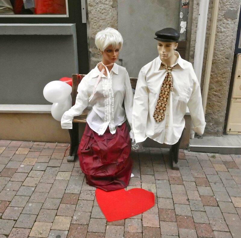 mannequins St-Valentin 12 fév 2014 St-Chamond