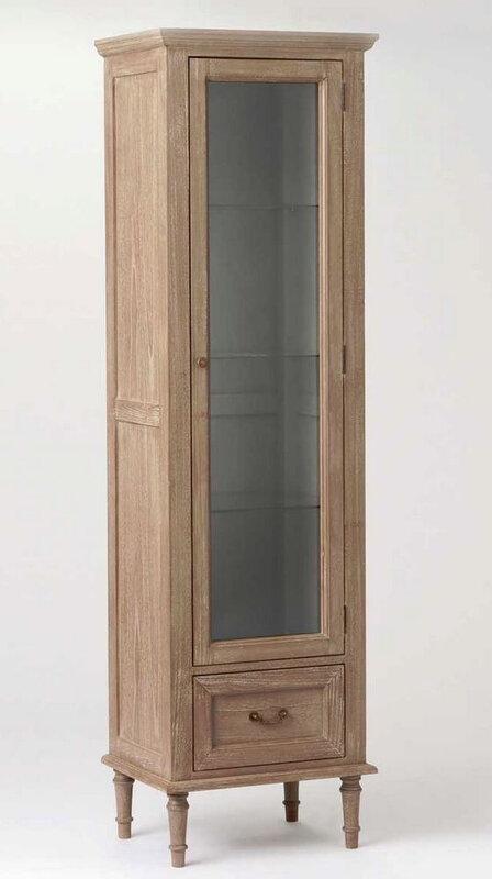 vitrine bois cérusé