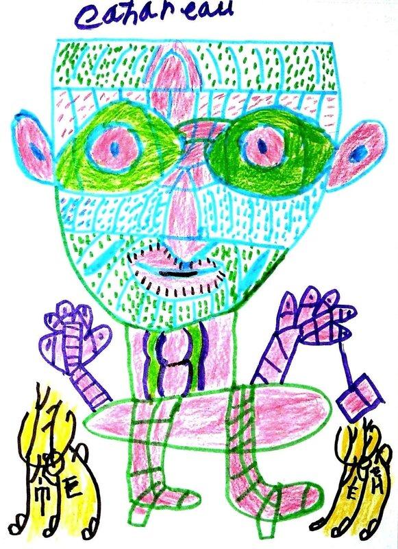 CAHOREAU personnage circa 2013 32 x 24