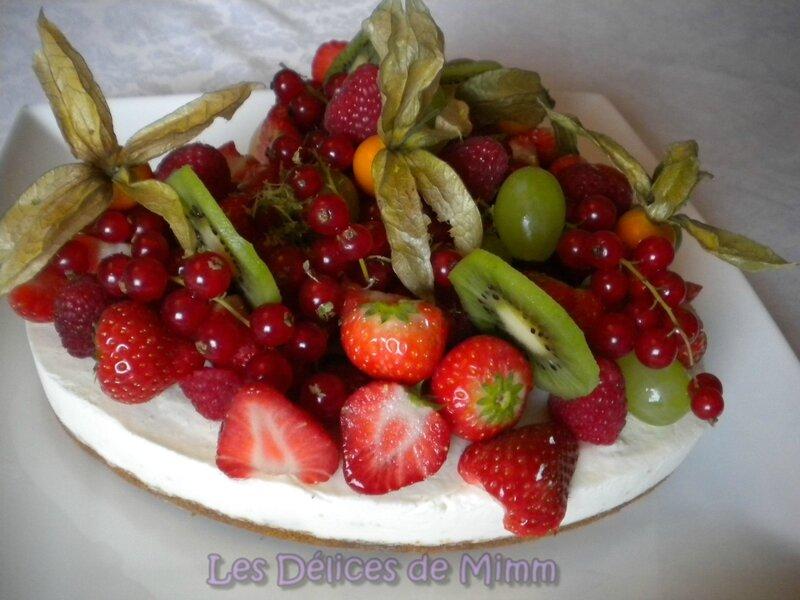 Cheesecake en cœur aux fruits frais 4
