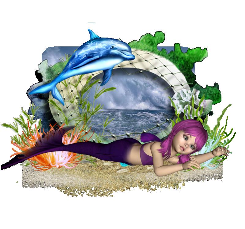 dauphin et petite sirene