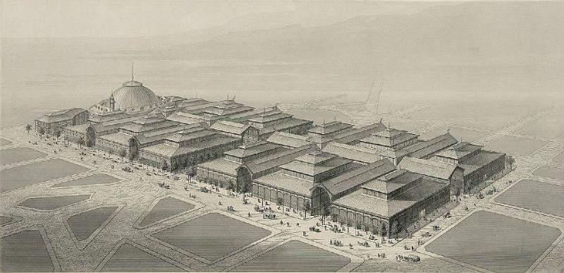 Les Halles: Plan au XIXe siècle