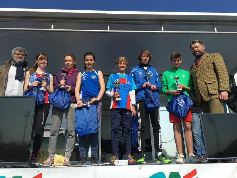 Athletic Club Avranches podium course 2016 jeunes 4